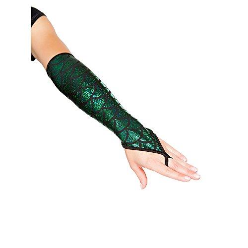 Mermaid Fingerless Elbow Length Gloves Green (Mermaid Costumes Accessories)