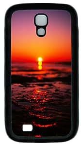 Sea Sunset Blurred iOS Custom Designer Samsung Galaxy S4 Case and Cover - TPU - Black