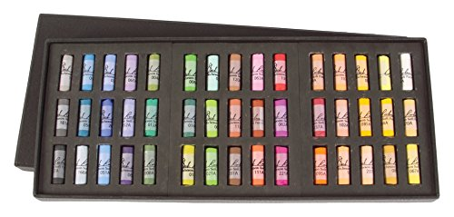 Jack Richeson 4280450 Signature Assorted Round Half Stick Pastels (Set Of 45) by Jack Richeson