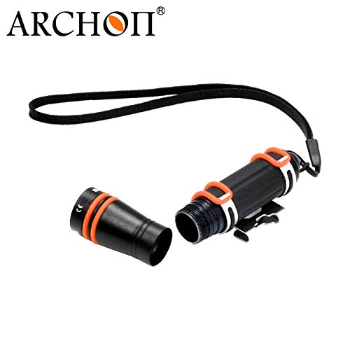 ARCHON W1A D1A Mini Dive Flashlight CREE XP-E R3 LED max 75 lumen diving torch underwater 100 meter waterproof diving light (Black) by ARCHON (Image #3)