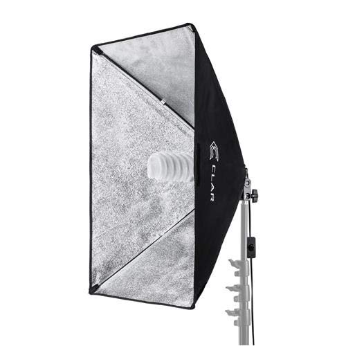 CLAR SoftBox, 70watt Fluorescent Light Unit with Built in 19.5x27.5 Silver Soft Box, with AC Plug and Spiral Fluorescent 5500K Bulb (translates into 350watt) ()
