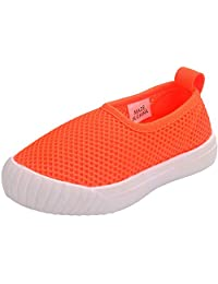 PPXID Boy's Girl's Solid Color Slip-On Mesh Loafers Casual Sport Shoes
