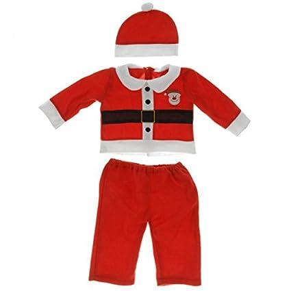 Traje de Navidad Niños Niño Niña Papá Noel Rojo Blanco Ropa ...