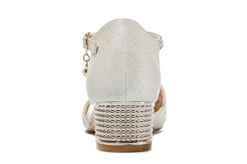 Guciheaven Kvinna Populär Ankelbandet Klänning Sko Läder Spetsig Tå Dorsay Beige