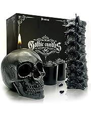 Skull & Spine Candle Set
