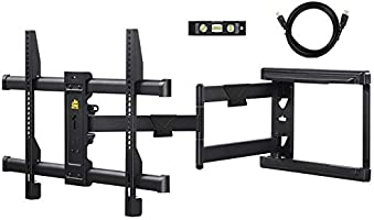 Full Motion TV Wall Mount TV Bracket with Swivel/Tilting/for Most of LED, OLED, 4K Flat/Curved TVs by HY-Bracket