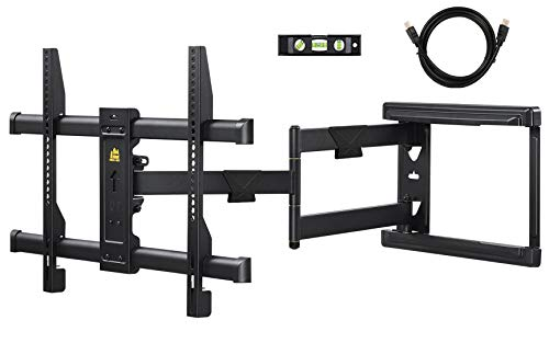 """FORGING MOUNT Long Extension TV Mount Corner Wall Mount TV Bracket Full Motion with 30 inch Long Arm for Corner/Flat Installation fits 32 to 70"""" Flat/Curve TVs, VESA 600x400mm Holds up to 99lbs"""