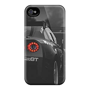 Anti-Scratch Cell-phone Hard Covers For Apple Iphone 5/5s (PZW11555IsAo) Custom Attractive Nissan Gtr Racing Series