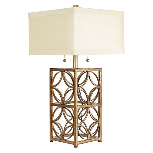 (Silverwood CPLT1380-COM The Arden Two-Pull Table Lamp with Shade, 25.5
