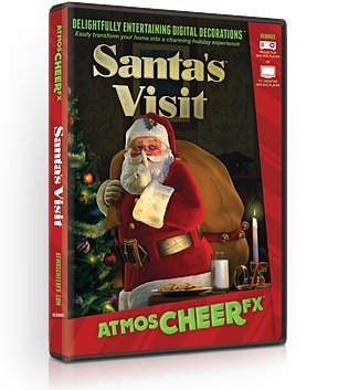 AtmosFX Santa's Visit Digital Decorations DVD for Christmas Holiday Projection Decorating]()