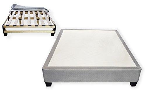 Euro Computer Bed - Whisper Sleep Quiet Platform Bed (Twin, Silver Gray)