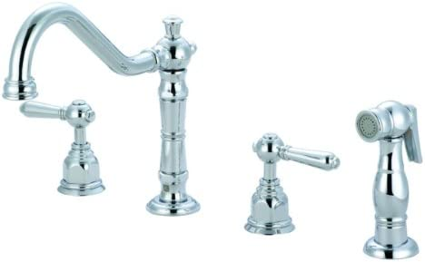 Pioneer Faucets Americana Collection 125221-H60 Two Handle Kitchen Widespread Faucet, PVD Polished Chrome