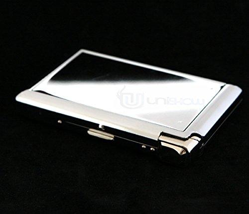 Stainless Steel Cigarette Case w/ Built-in Lighter 61*361