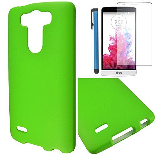 LG G3 VIGOR Case Combo(3-items) - Hard Case Snap-on Cover(Matte Green)+ICE-CLEAR(TM) Screen Protector Shield(Ultra Clear)+Touch Screen Stylus