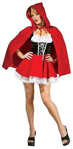 WELVT Women's Little Red Riding Hood Costume Christmas Fancy Dress Velvet Uniform Skirt 3X-Large]()
