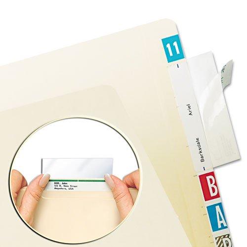Wholesale CASE of 25 - Tabbies Self-Adhesive File Folder Label Protectors-Self Adhesive Label/File Fldr Protectors,3-1/2