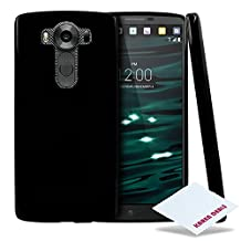 LG V10 Case, RED SHIELD [Black] [Responsive Fingerprint Sensor] Slim & Flexible Anti-shock Crystal Silicone Protective [Non-Slip] TPU Gel Skin Case Cover for LG V10 (2015)