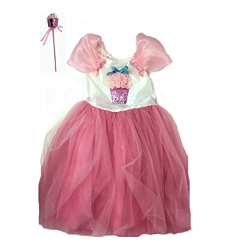 Cupcake Costumes For Toddler (Little Toddler Girls Grand Deluxe Costume Sets (3T, Princess Cupcake Fairy))