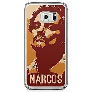 Samsung Galaxy S6 Edge Transparent Edge Case Narcos Orange