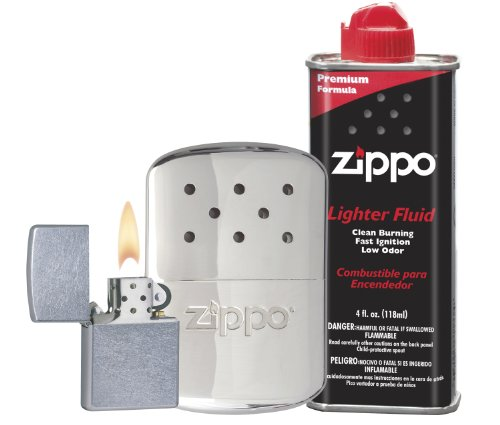 Zippo Hand Warmer Gift Set, Chrome, 12 Hour