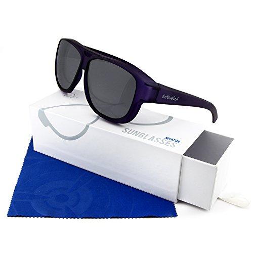 – LUNETTES protection Aviateur à SOLEIL SUR Surlunettes Violet design pilote Active Sol de polarisées Lunettes UV400 DE 0nYqqwOd