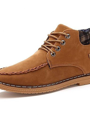 Ei&iLI Zapatos de Hombre - Sneakers a la Moda - Casual - Semicuero - Negro / Azul / Marrón , black , us8.5-9 / eu41 / uk7.5-8 / cn42 Black