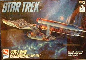 amazon com amt retl star trek cut away u s s enterprise ncc 1701 1