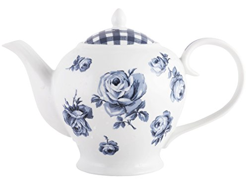 - Katie Alice Stylish Vintage Indigo Porcelain Teapot by Creative Tops, 6 Cups / 1200 ml (42 fl oz)