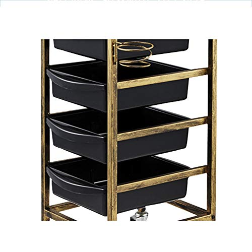 Amazon.com: MJHY Barber Cart On Wheels. Salon Cart With 4 Drawers Retro 5 Layers,Blue: Beauty