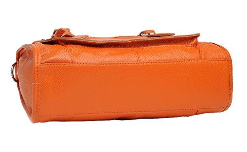 Main à SAIERLONG Fourre De Femmes Sac Orange Simple tout D'épaule Cuir Sac Vache R6aTw8qR