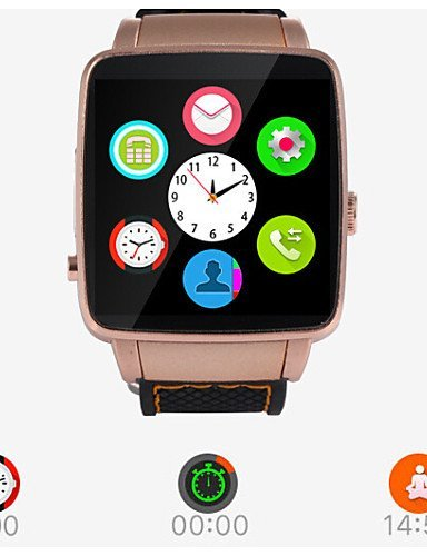 Newest Sport Smart Watch X6 with Camera Anti-lost Bluetooth Smart Wristwatch for business men , gold