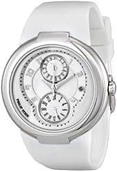 Philip Stein Active White Rubber Strap Silver-tone Ladies Watch 31-AW-RW