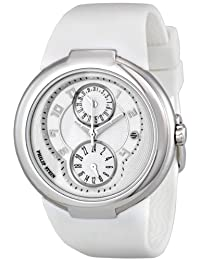 Philip Stein Active White Rubber Strap Silver-tone Ladies Watch 31-AW-RW
