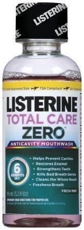 Listerine Total Care Zero Anticavity Mouthwash, Fresh Mint 3.2 oz (Pack of 12)