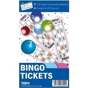 book a 100 sheet 6 games per sheet bingo tickets free postage by Tallon by fancydresscoz