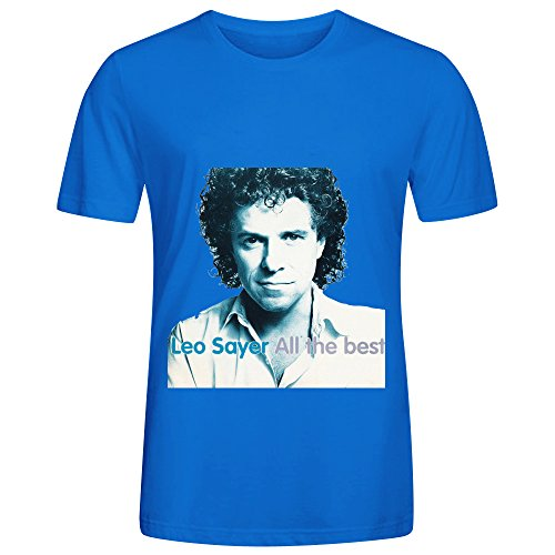 Leo Sayer All The Best Rock Album Mens Crew Neck Printed Shirts Blue