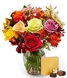 Flowers - Roses & Alstros & Godiva Bundle