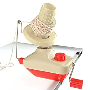 Bobbin Winder Yarn Winder Table Clasp, Marrywindix Hand Operated Manual Wool Winder Holder for Swift Yarn Fiber String Ball