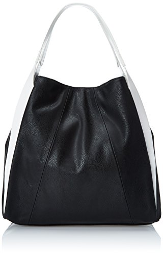 POVERTY FLATS by rian Aero Shoulder Bag, Black/White, One Size (Flats Poverty)