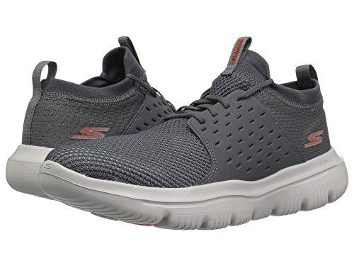 [SKECHERS(スケッチャーズ)] メンズスニーカー?ランニングシューズ?靴 Go Walk Evolution Ultra Turbo Charcoal/Orange 10.5 (28.5cm) D - Medium