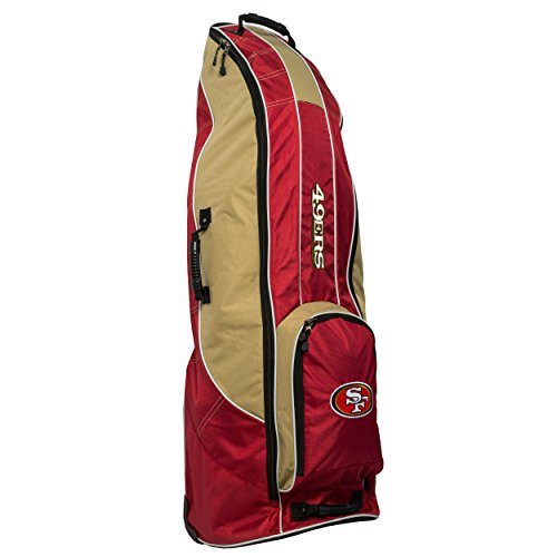 - Team Golf NFL San Francisco 49ers Travel Golf Bag, High-Impact Plastic Wheelbase, Smooth & Quite Transport, Includes Built-in Shoe Bag, Internal Padding, & ID Card Holder