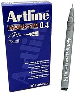 Artline EK234 Drawing System Pen 0.4 mm - Black (Pack of 12)