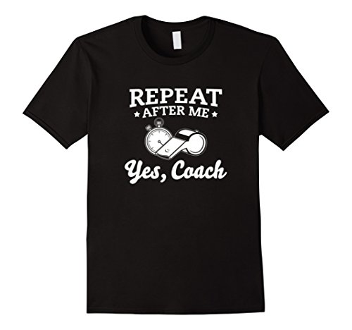 Mens Funny Yes, Coach T-shirt Youth or School Running Coach Gift Large Black