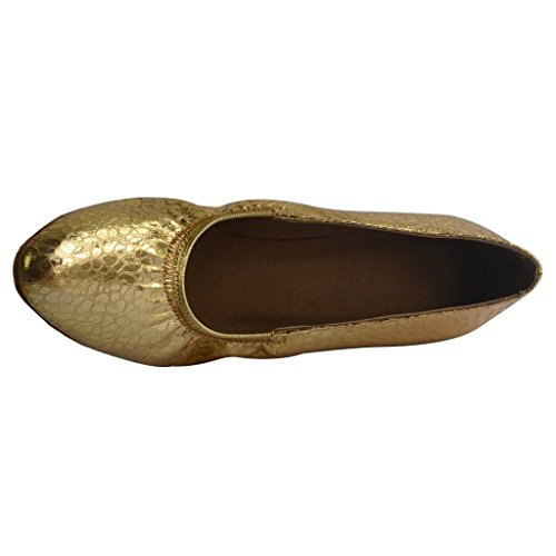 Jig Foo Damen Pumps Dance Schuhe gold