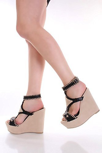 Sandal Woven Wedge Stitched Open Toe Anklet wz1X8xqO7g