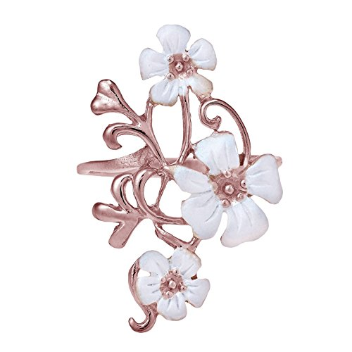 - AeraVida Exotic Plumeria in Bloom Rose Gold Over Sterling Silver Ring (6)