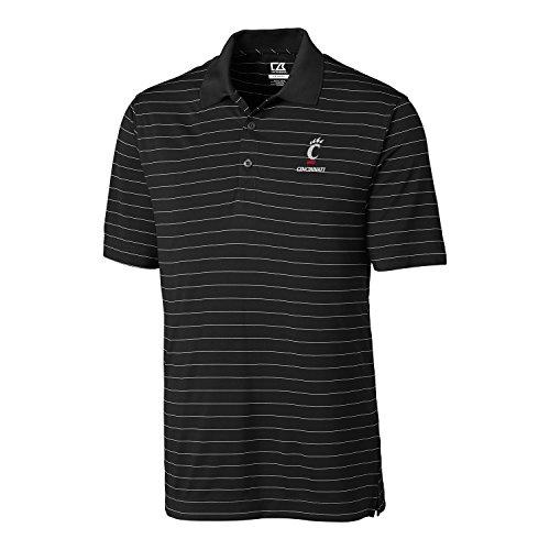 NCAA Cincinnati Bearcats  Men's CB Dry Tec Franklin Stripe Polo,Large,Black