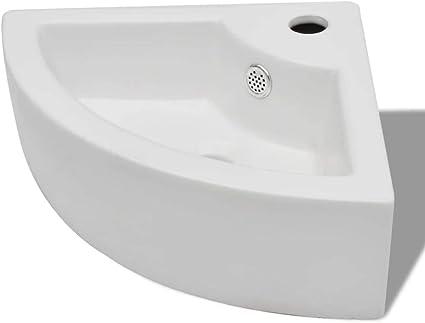 vidaXL Lavabo Rectangulaire C/éramique Blanc Vasque /à Poser Lave-Mains Bain