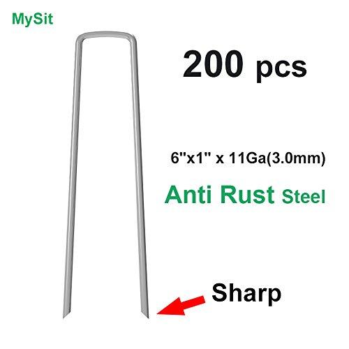 200-Pack Anti-Rust Galvanized Ground Staples 6