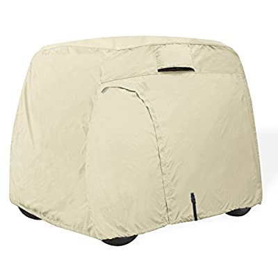 Explore Land 100% Waterproof Golf Cart Cover Universal Fits for 2/4 Passenger Yamaha Club Cart EZGO Golf Cart from Explore Land